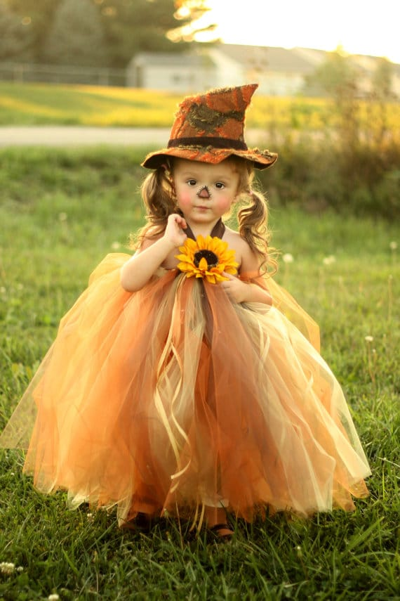 Tutu Scarecrow Halloween Costume For Girls