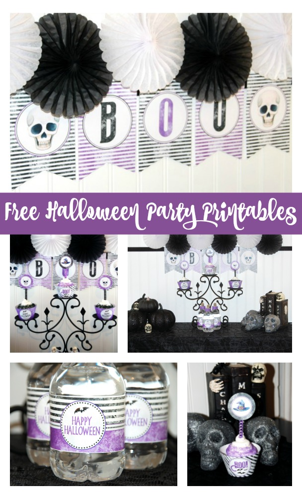 Free Halloween Party Printable Set via Pretty My Party