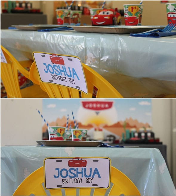 Disney's Cars Themed Birthday Party Chair | Pretty My Party