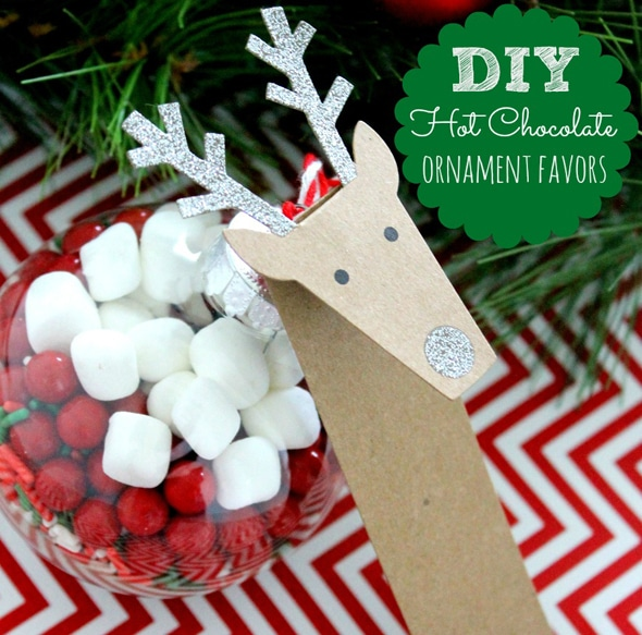 DIY Hot Chocolate Ornaments on Pretty My Party