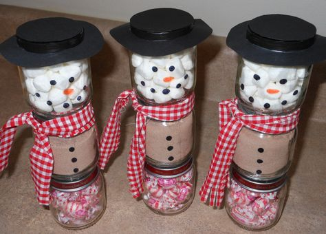 Hot Cocoa Snowman Jars