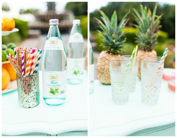 Lilly Pulitzer Bridesmaid Brunch Drinks and Party Straws