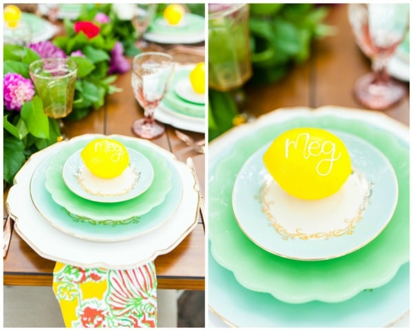 Lilly Pulitzer Bridesmaid Brunch Place Settings