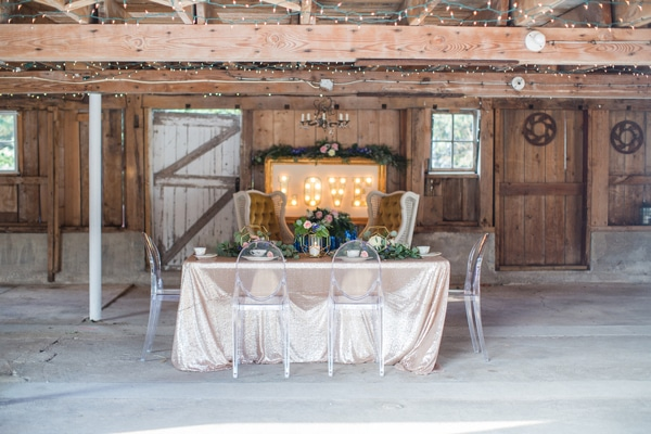 Rustic Glam Wedding Table via Pretty My Party