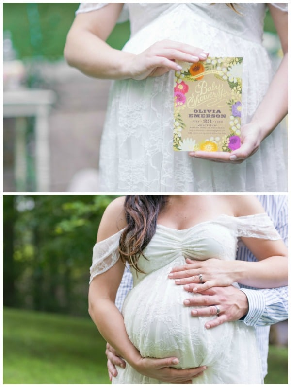 Whimsical Outdoor Baby Shower Invitation via Pretty My Party