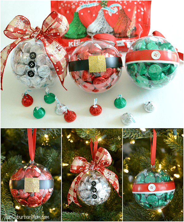 Hershey Kiss DIY Christmas Ornaments