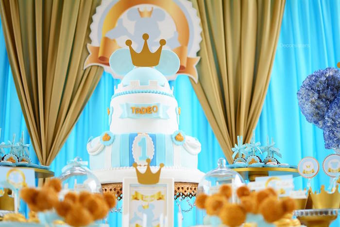 Royal Mickey Mouse Birthday Cake