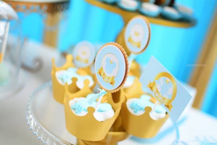 Royal Mickey Mouse Cupcake Toppers