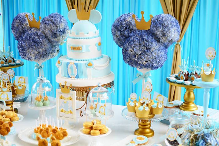 Royal Mickey Mouse Dessert Table