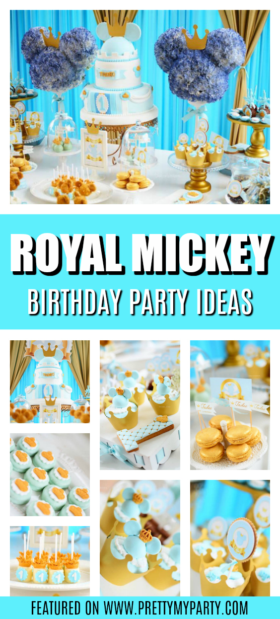 Royal Mickey Mouse Birthday Party on Pretty My Party