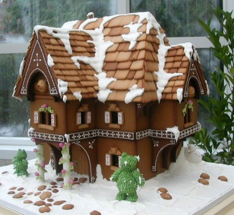 Brown Gingerbread House Idea