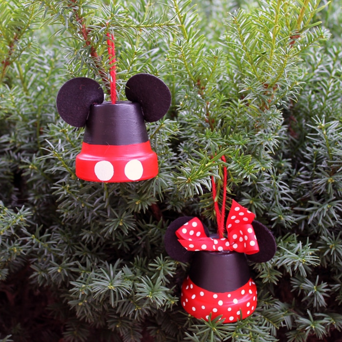 Mickey and Minnie Disney Inspired DIY Ornaments