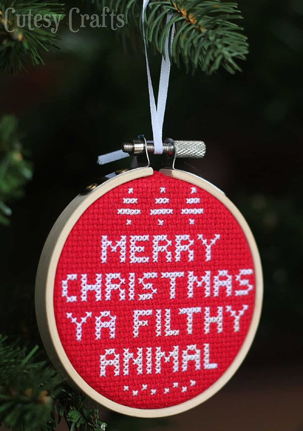 Ya Filthy Animal DIY Christmas Ornament