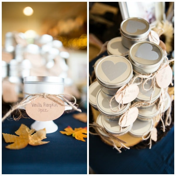 Fall Themed Baby Shower Vanilla Pumpkin Spice Favors | Pretty My Party