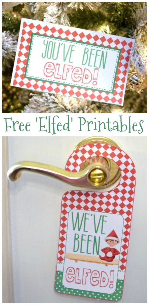 Free You've Been Elfed Printables on Pretty My Party