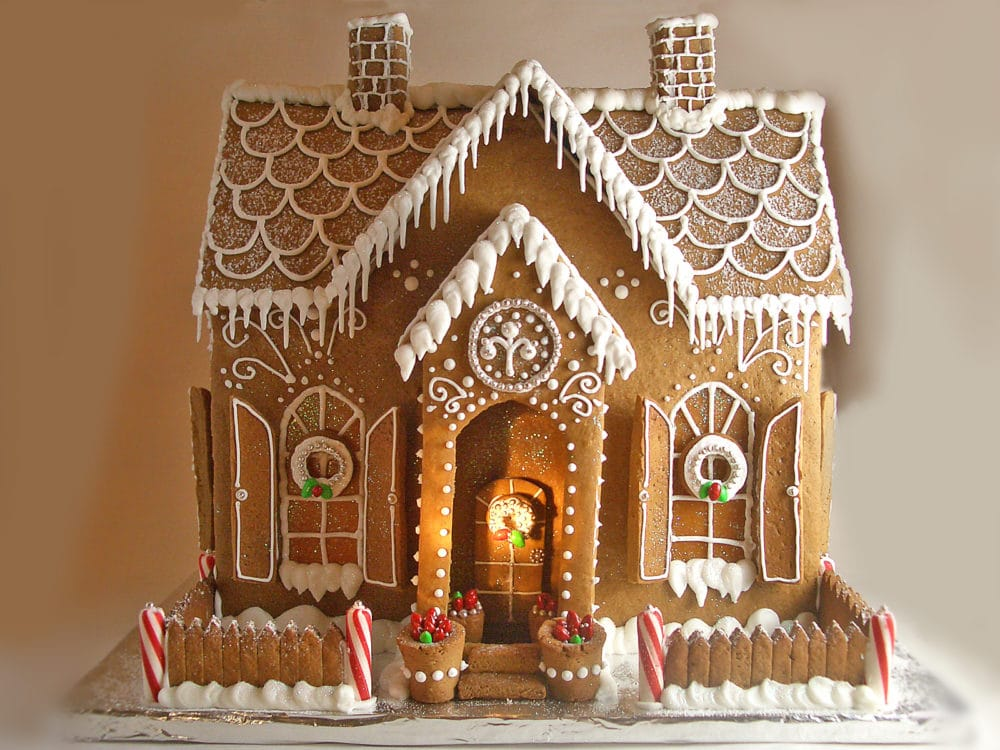 14 incredible gingerbread houses pretty my party party - Casa de jengibre ikea ...