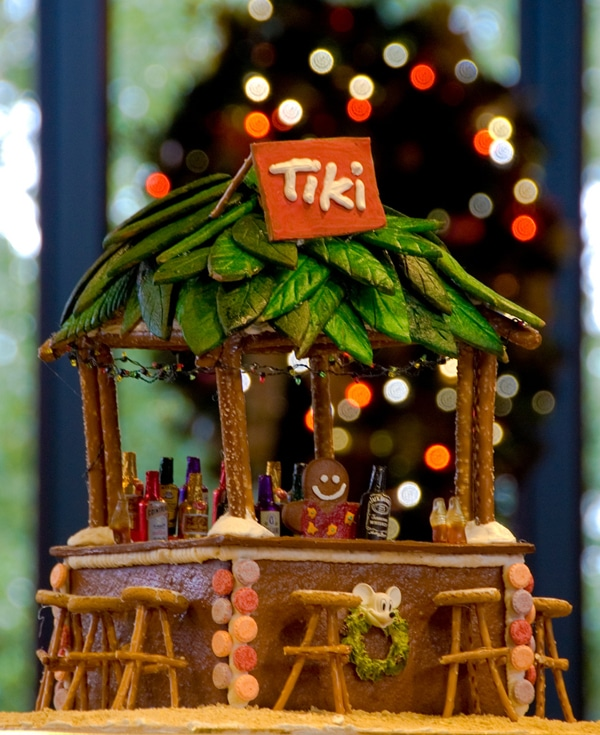 Gingerbread House Tiki Hut