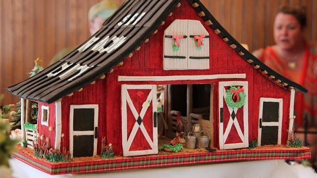 Red Gingerbread House Barn