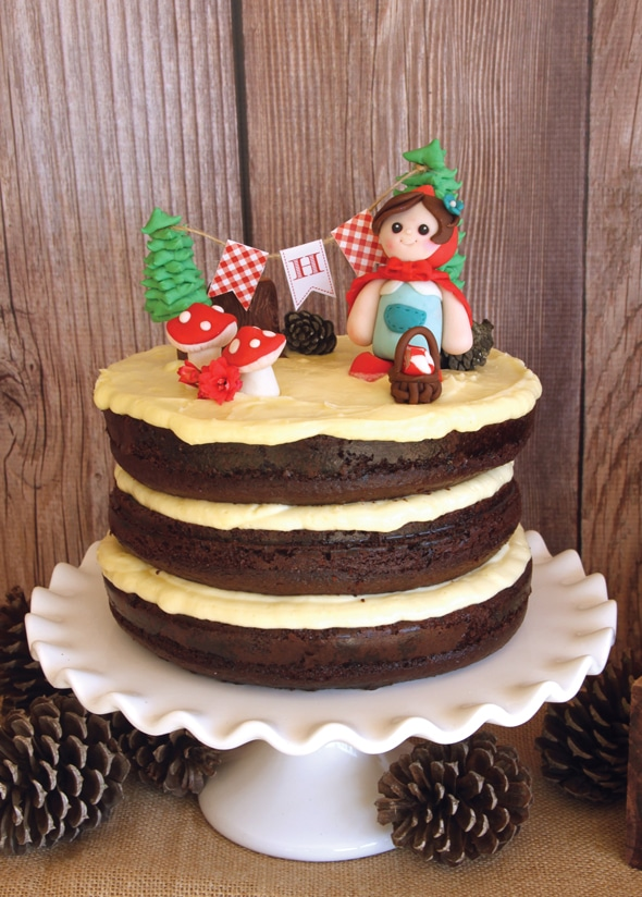 Red Riding Hood Picnic Birthday Cake | Pretty My Party