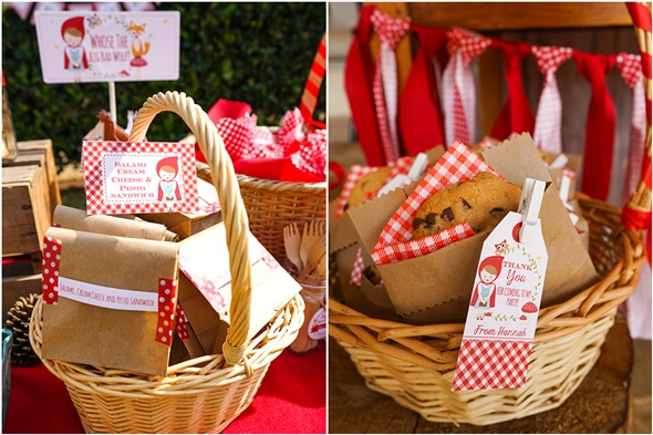 Red Riding Hood Picnic Birthday Party Dessert Table   Pretty My Party