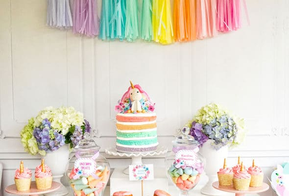 Pastel Unicorn Birthday Party