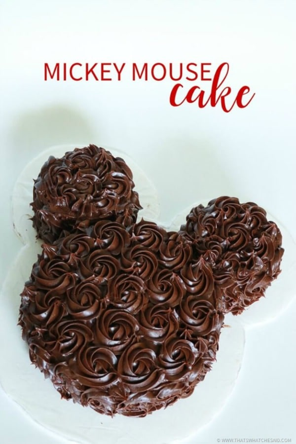 Chocolate Mickey Mouse Cake
