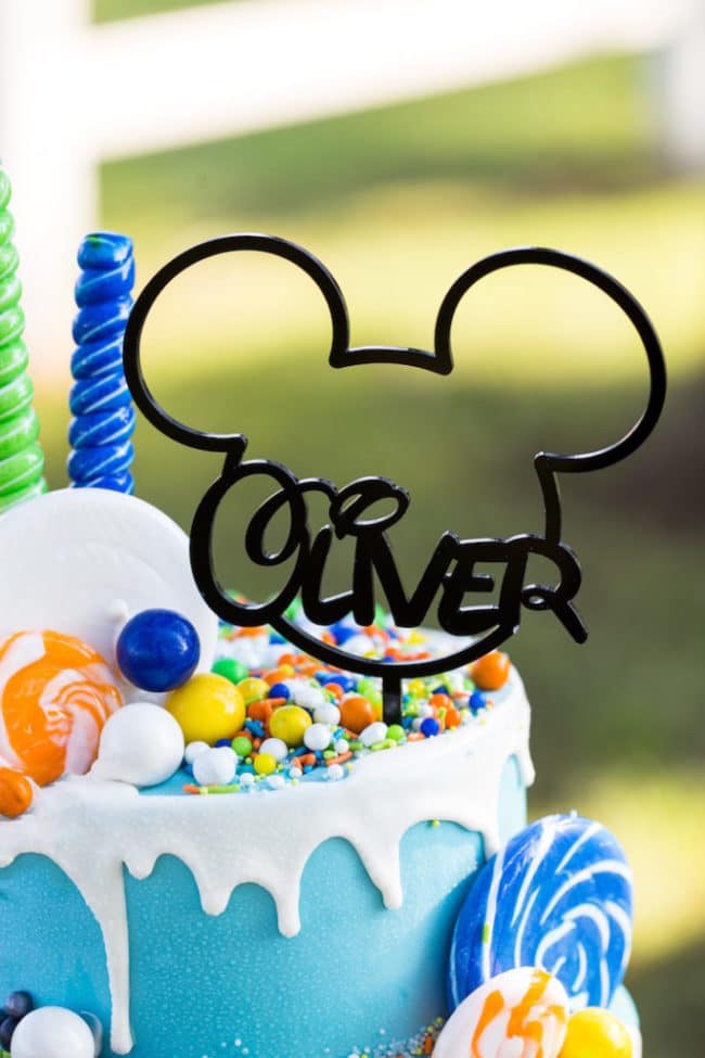 Custom Mickey Cake Topper