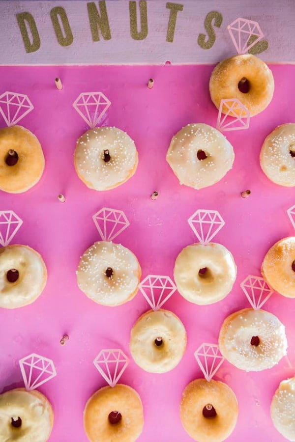 Engagement Ring Donut Wall