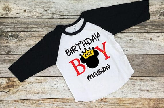 First Birthday Mickey Shirt