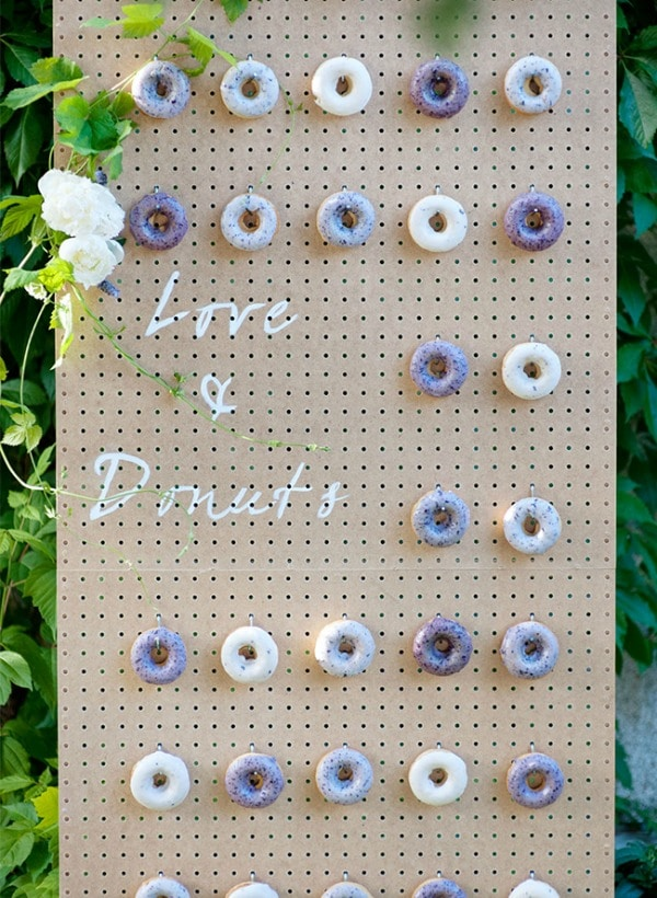 Love and Donuts Donut Wall
