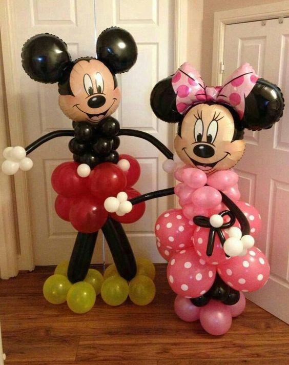 Lifesize Mickey and Minnie Balloons