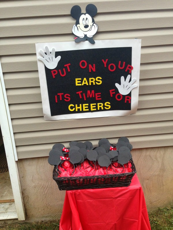 Mickey Mouse Ears Station Idea For A Birthday Party