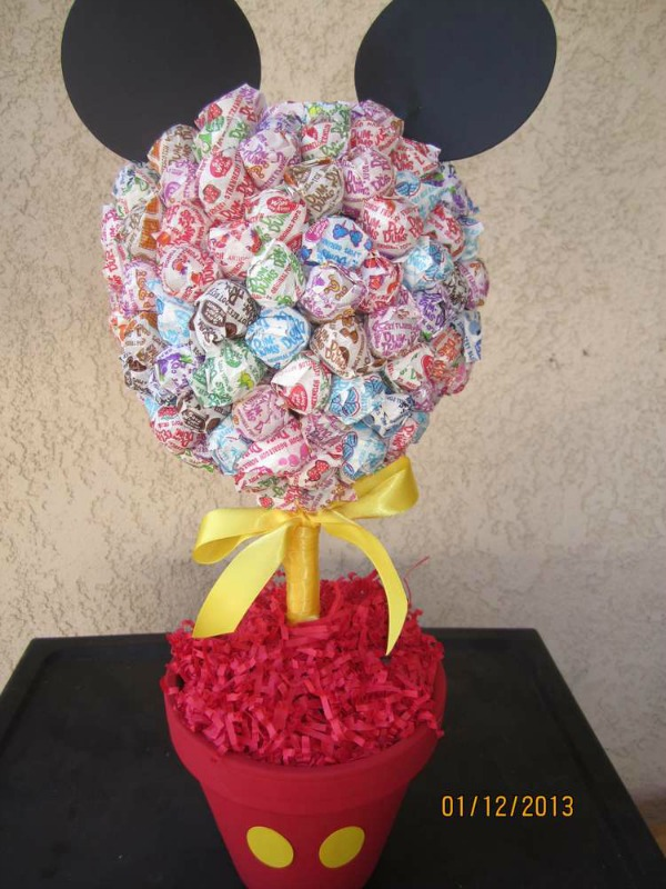 Mickey Mouse Lollipop Topiary