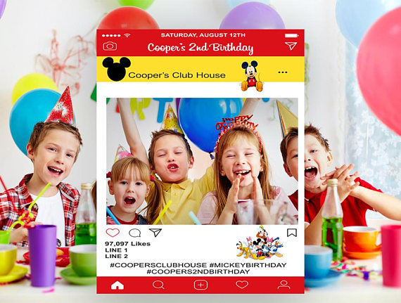 Mickey Mouse Party Instagram Photo Frame