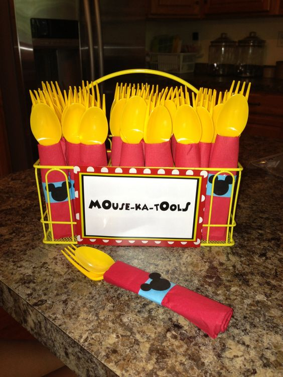 Mickey Mouse Party Utensils Mouse-ka-Tools & 40+ Mickey Mouse Party Ideas - Mickeyu0027s Clubhouse - Pretty My Party