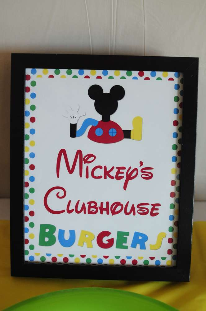 Mickey's Clubhouse Burgers