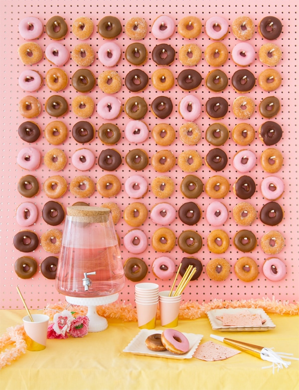 Pink Pegboard Donut Wall