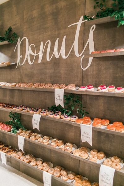 Rustic Donut Wall With Shelves