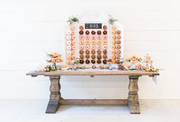 Vintage White Donut Wall