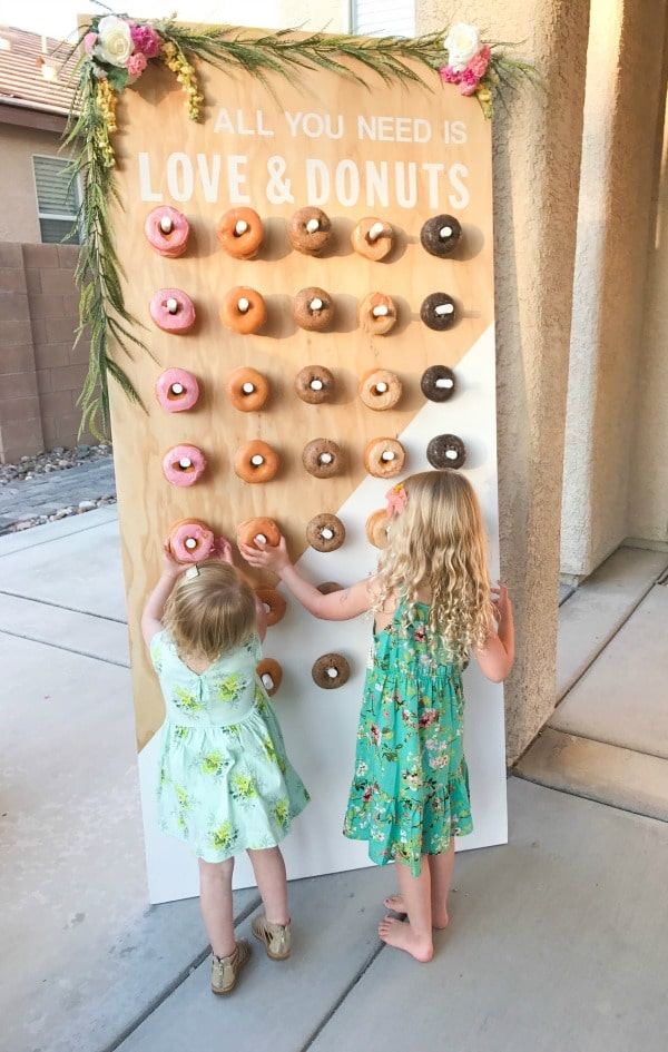 Wood Donut Wall