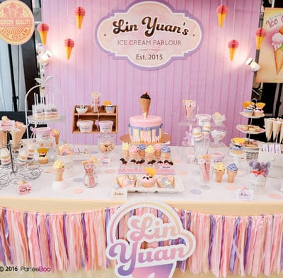 Ice Cream Parlor First Birthday Party