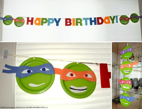 Ninja Turtle Happy Birthday Banner