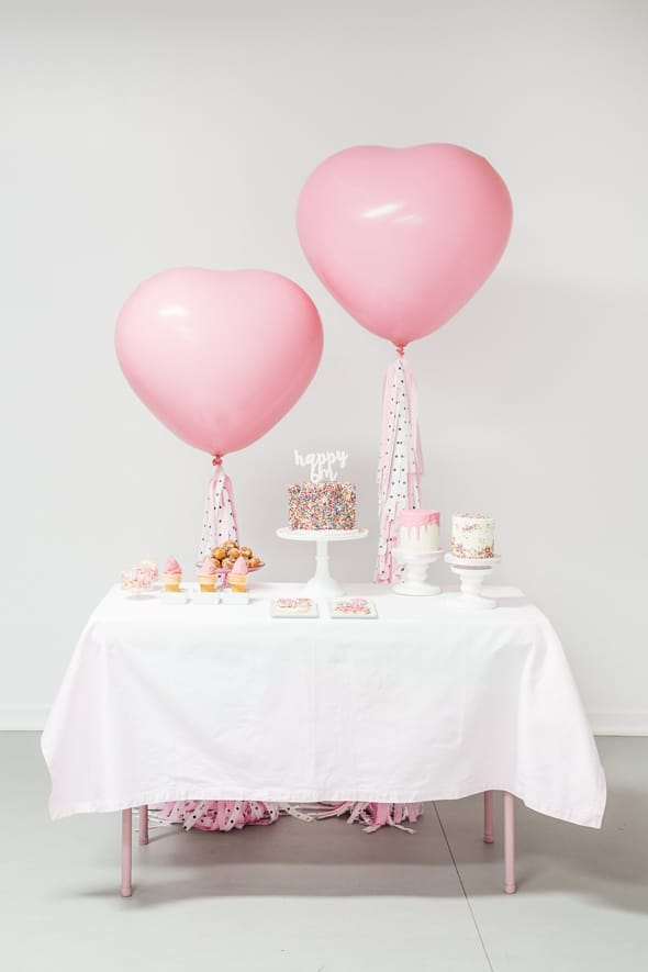 Little Sprinkles Birthday Fun Dessert Table | Pretty My Party