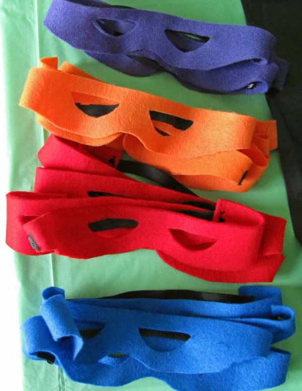 DIY Ninja Turtle Party Masks