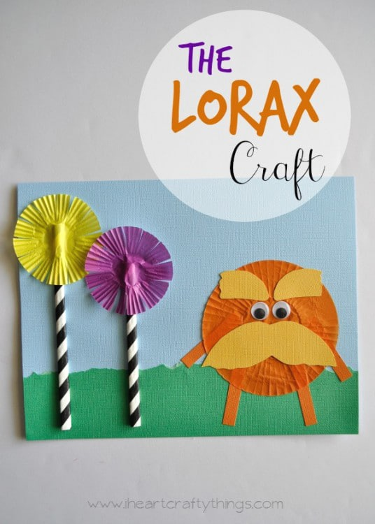 The Lorax Kids Craft Idea | Dr. Seuss Party Ideas | Pretty My Party