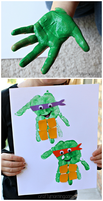 Ninja Turtle Kids Hand Craft
