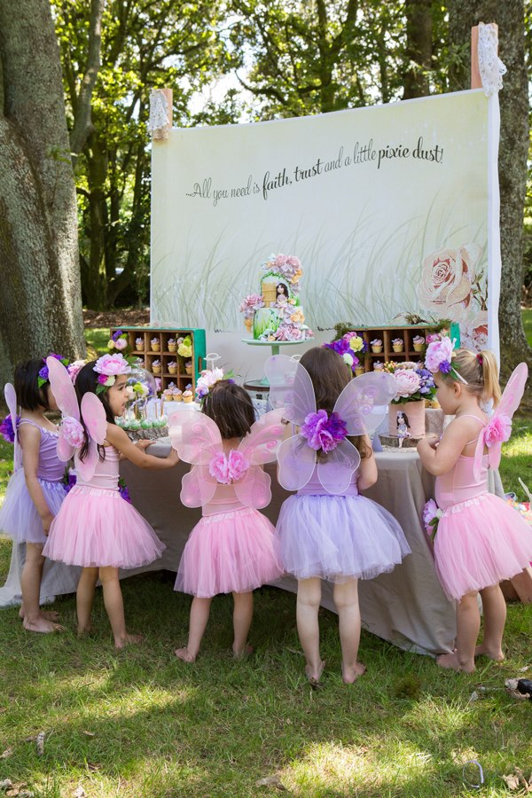 Fairy wings for a girl's fairy birthday party