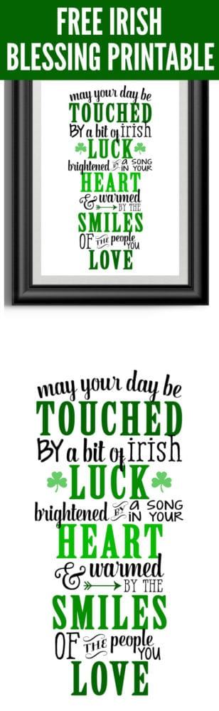 photograph regarding Printable Irish Blessing known as Cost-free Irish Blessing Printable Artwork - Beautiful My Get together - Get together