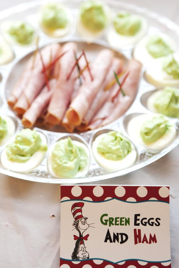 Dr. Seuss, Green Eggs and Ham Party Food Idea | Pretty My Party