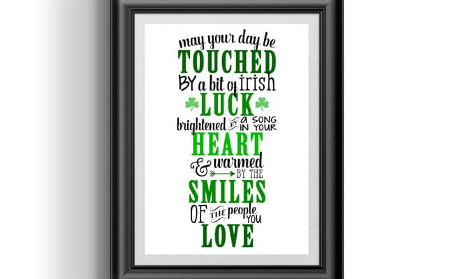 Free Irish Blessing Printable Art